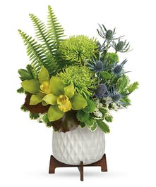 Modern Green Floral Bouquet
