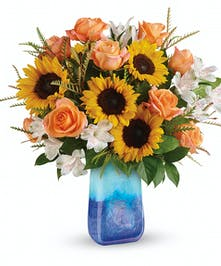 Contemporary Sunflower Bouquet