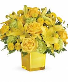 Yellow Mixed Flower Bouquet