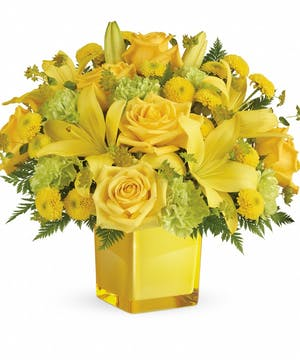 Yellow Mixed Flower Bouquet