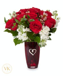 Red & White Romance Bouquet