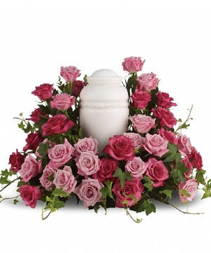 Pink Rose Cremation Wreath