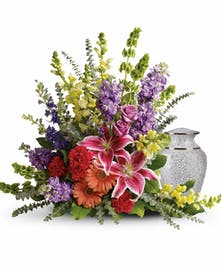 Multi-Colored Cremation Arrangement