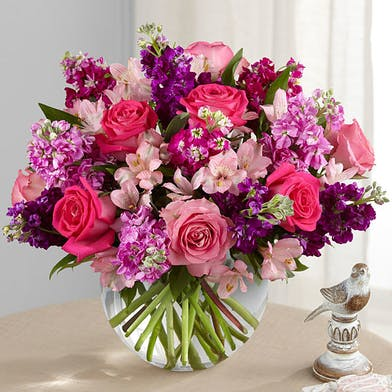 Roses, Stock, Alstroemeria, Floral Greenery
