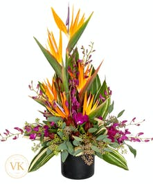 Birds of Paradise and Orchid Bouquet