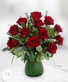 One Dozen Stunning Roses