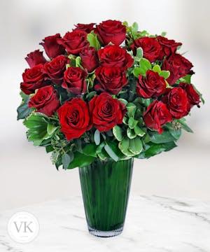 Two Dozen Stunning Roses