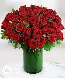 Four Dozen Stunning Roses