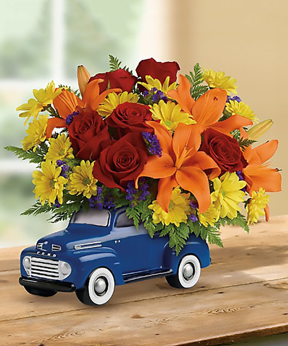 1a3bb11410895 Vintage Ford Pickup  Flowers for Him - Veldkamp s Flowers
