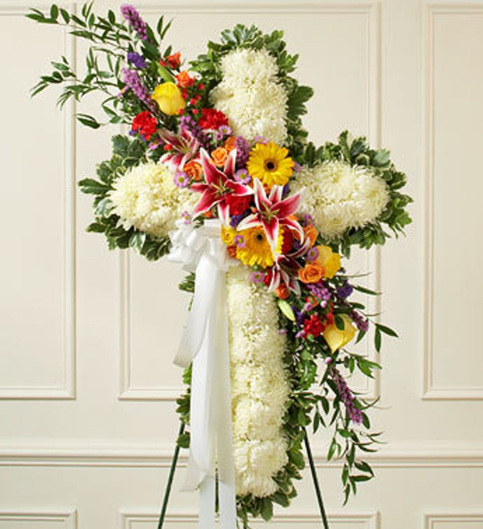 A Final Tribute Floral Cross: 1-800-Flowers Sympathy Collection ...