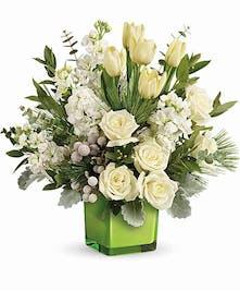 White Floral Christmas Bouquet