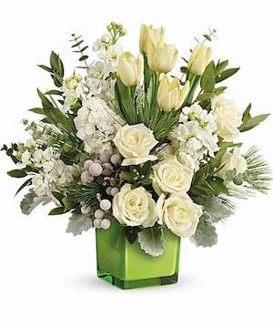 White Floral Winter Bouquet