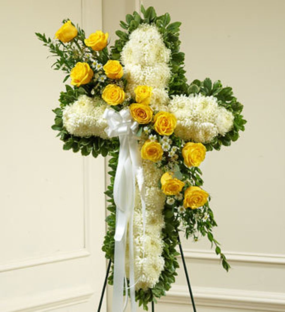 Floral funeral cross denver floral funeral cross denver colorado available for nationwide delivery izmirmasajfo