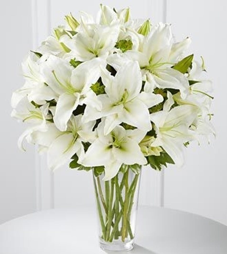 Spirited Grace Lily Bouquet White Lily Bouquet Veldkamp S